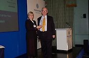 Polly Toynbee and Peter Riddell, Political Studies Association Awards 2004. Institute of Directors, Pall Mall. London SW1. 30 November 2004.  ONE TIME USE ONLY - DO NOT ARCHIVE  © Copyright Photograph by Dafydd Jones 66 Stockwell Park Rd. London SW9 0DA Tel 020 7733 0108 www.dafjones.com