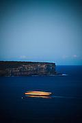 Sydney Ferry passing North Head, Sydney Harbour, Australia