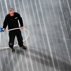 20120410: SLO, Ice Hockey - Preparing Ice in Arena Stozice for World Championship Div. I