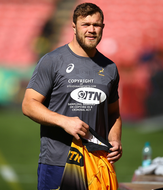 Duane Vermeulen of South Africa during the South African - Springbok Captain's Run at Emirates Airline Park,<br /> Johannesburg .South Africa. 08,06,2018 Photo by (Steve Haag Sports)