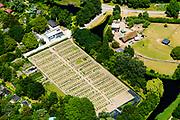 Nederland, Amsterdam, Stadsdeel Westerpark, 29-06-2018; Schooltuinen en kinderboerderij, Westerpark.<br /> School gardens and petting zoo.<br /> <br /> luchtfoto (toeslag op standard tarieven);<br /> aerial photo (additional fee required);<br /> copyright foto/photo Siebe Swart