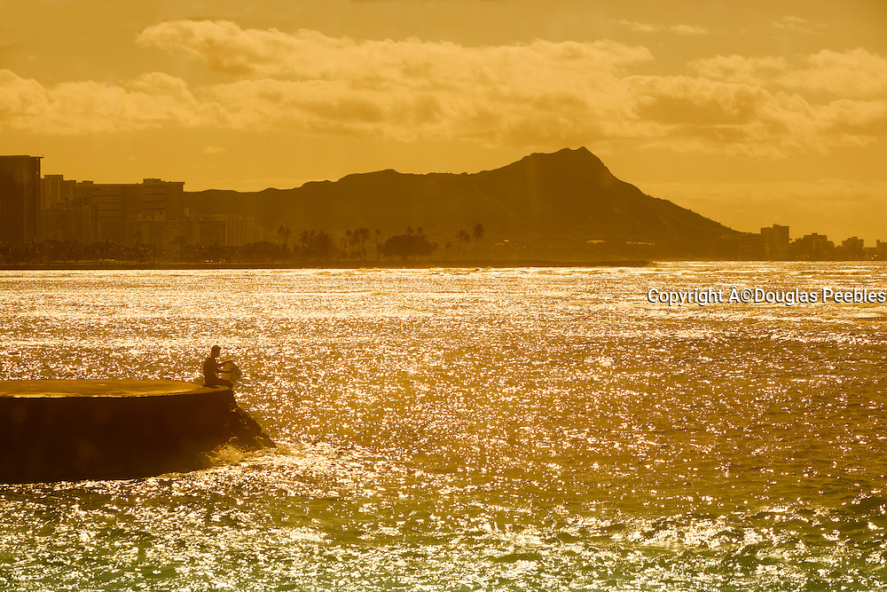 Sunrise, Diamond Head, Waikiki, Oahu, Hawaii