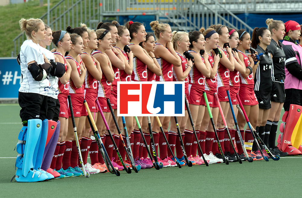 AUCKLAND - Sentinel Hockey World League final women<br /> Match id: 10309<br /> 19 USA v CHN (Losing Q/Finalists Match)<br /> Foto: Line up USA.<br /> WORLDSPORTPICS COPYRIGHT FRANK UIJLENBROEK