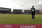 Yorkshires Joe Root during the Vitality T20 Blast North Group match between Lancashire County Cricket Club and Yorkshire County Cricket Club at the Emirates, Old Trafford, Manchester, United Kingdom on 20 July 2018. Picture by George Franks.