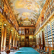 The Theological Hall in the Strahov Library. Designed in the Baroque style by Giovanni Domenico Orsi in 1679.