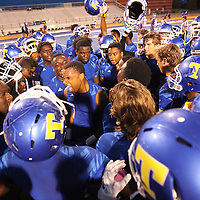 Adam Robison | BUY AT PHOTOS.DJOURNAL.COM<br /> The Tupelo football team gets themselves fired up before the start of their game against DeSoto Central Friday night in Tupelo.