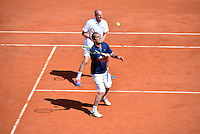 Cedric PIOLINE / Guy FORGET - 23.05.2015 - Tennis - Journee des enfants - Roland Garros 2015<br /> Photo : David Winter / Icon Sport