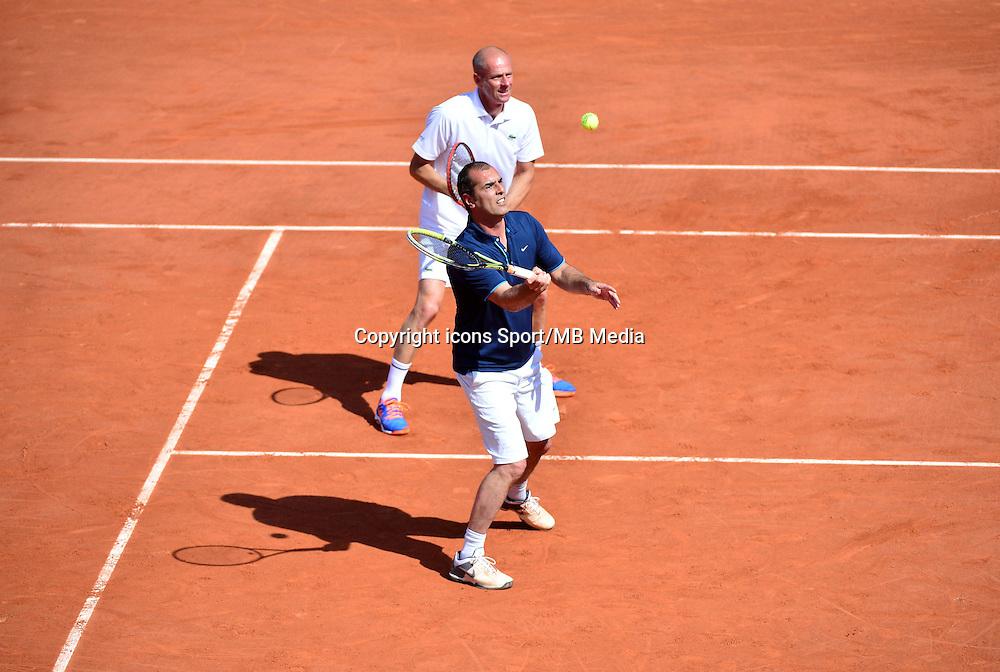 Cedric PIOLINE / Guy FORGET - 23.05.2015 - Tennis - Journee des enfants - Roland Garros 2015<br /> Photo : David Winter / Icon Sport