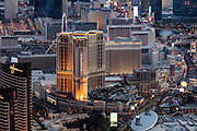 Aerial view of Venetian Hotel on the Strip, Las Vegas, Nevada, USA