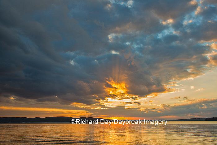 64795-00806 Sunset on South Bay, Lake Superior, Munising, Upper Peninsula, MI