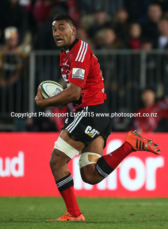 Jimmy Tupou of the Crusaders during the Investec Super Rugby game between the Crusaders v Chiefs at AMI Stadium i Christchurch. 17 April 2015 Photo: Joseph Johnson/www.photosport.co.nz