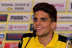 Bad Ragaz, Schweiz 04.08.2016, Trainingslager BV Borussia Dortmund, BVB, Pressekonferenz, press conference, PK,  Marc Bartra (BVB)  / 040816<br /> <br /> ***Training camp of Borussia Dortmund in Bad Ragaz, Switzerland, August 4th, 2016***