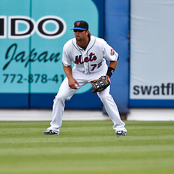 March 6, 2011; Port St. Lucie, FL, USA; New York Mets center fielder Kirk Nieuwenhuis (72) during a spring training exhibition game against the Boston Red Sox at Digital Domain Park. The Mets defeated the Red Sox 6-5.  Mandatory Credit: Derick E. Hingle