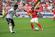 Charlton Athletic midfielder Ricky Holmes (11) passing the ball during the EFL Sky Bet Championship match between Charlton Athletic and Bolton Wanderers at The Valley, London, England on 27 August 2016. Photo by Matthew Redman.