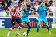 EINDHOVEN - 14-08-2016, PSV - AZ, Philips Stadion, 1-0, PSV speler Jurgen Locadia, AZ speler Derrick Luckassen, AZ speler Rens van Eijden