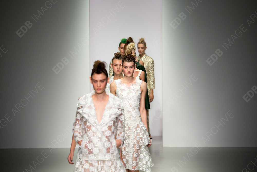 17.SEPTEMBER.2013. LONDON<br /> <br /> SIMONE ROCHA FASHION CATWALK AT SOMERSET HOUSE FOR S/S 2014 AT LONDON FASHION WEEK 20134<br /> <br /> BYLINE: EDBIMAGEARCHIVE.CO.UK<br /> <br /> *THIS IMAGE IS STRICTLY FOR UK NEWSPAPERS AND MAGAZINES ONLY*<br /> *FOR WORLD WIDE SALES AND WEB USE PLEASE CONTACT EDBIMAGEARCHIVE - 0208 954 5968*