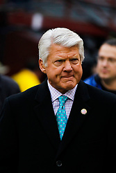 Jan 22, 2012; San Francisco, CA, USA; Television commentator Jimmy Johnson on the field before the 2011 NFC Championship game between the San Francisco 49ers and the New York Giants at Candlestick Park.  Mandatory Credit: Jason O. Watson-US PRESSWIRE