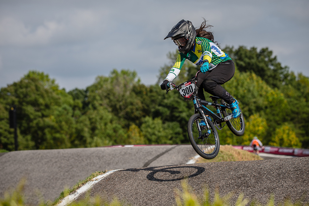 #300 (ALVES DOS SANTOS Julia) BRA Crisp Nologo at Round 8 of the 2019 UCI BMX Supercross World Cup in Rock Hill, USA