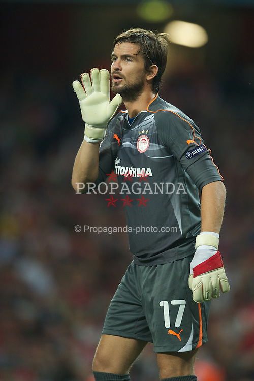 LONDON, ENGLAND - WEDNESDAY, SEPTEMBER 28, 2011: Olympiacos'  Franco Costanzo during the UEFA Champions League Group F match at the Emirates Stadium. (Photo by Chris Brunskill/Propaganda)