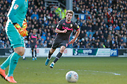 Leeds United forward Patrick Bamford (9)  during the EFL Sky Bet Championship match between Queens Park Rangers and Leeds United at the Kiyan Prince Foundation Stadium, London, England on 18 January 2020.