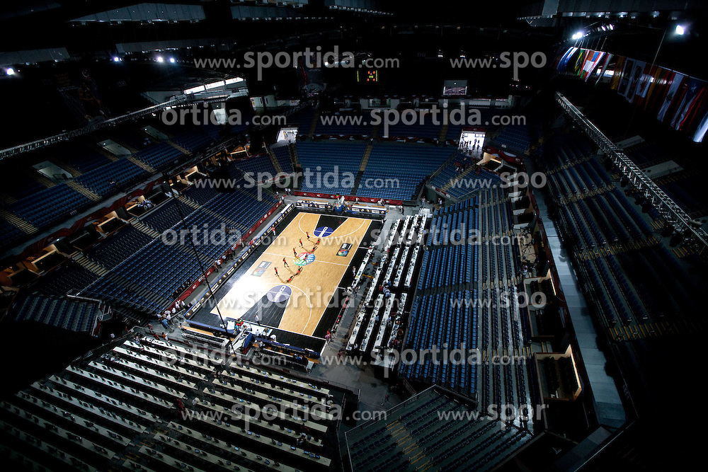 Arena prior to the eight-final basketball match between National teams of Serbia and Croatia at 2010 FIBA World Championships on September 4, 2010 at Sinan Erdem Arena in Istanbul, Turkey. (Photo By Vid Ponikvar / Sportida.com)