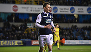 Jed Wallace in action during the Johnstone's Paint Trophy semi final first leg match between Millwall and Oxford United at The Den, London, England on 14 January 2016. Photo by Michael Hulf.