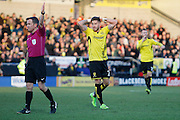 Burton Albion midfielder Michael Kightly (28) sees a chance saved by Wolverhampton Wanderers goalkeeper Carl Ikeme (1) during the EFL Sky Bet Championship match between Burton Albion and Wolverhampton Wanderers at the Pirelli Stadium, Burton upon Trent, England on 4 February 2017. Photo by Richard Holmes.