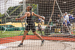 Ashton Eaton, Decathlon, Discus, on his way to setting world record at USA Olympic Trials
