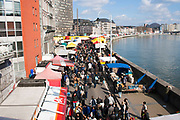 Sunday market in Liege, Belgium