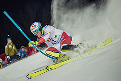 "29.01.2019, Planai, Schladming, AUT, FIS Weltcup Ski Alpin, Slalom, Herren, 1. Lauf, im Bild Daniel Yule (SUI) // Daniel Yule of Switzerland in action during his 1st run of men's Slalom ""the Nightrace"" of FIS ski alpine world cup at the Planai in Schladming, Austria on 2019/01/29. EXPA Pictures © 2019, PhotoCredit: EXPA/ Dominik Angerer"