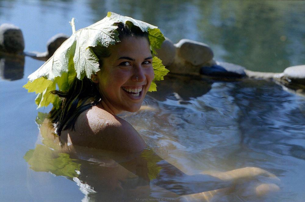 Enjoying the hot springs nearby Reddings