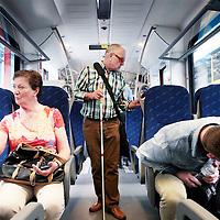 Zwitserland, Winterthur, 15 juli 2015.,<br /> Arriva gaat met de trein naar Zwitserland. Meemogen naast een aantal bobo's ook treinpassagiers die zich op de site van Arriva hadden aangemeld. De bedoeling is dat deze reizigers en daar moet natuurlijk ook de nadruk op liggen in Zwitserland in treintoestellen allerlei dingen , zoals stoelen en andere zaken gaan testen en beoordelen.<br /> Op de foto: in de fabrieken van Stadler buiten Winterthurkrijgen de Limburgse gasten een rondleiding en uitleg omtrent de contructie van de treinen.<br /> De gasten konden vervolgens de interieur kritisch bekijken en eventuele op of aanmerkingen later bespreken.<br /> <br /> <br /> Foto: Jean-Pierre Jans