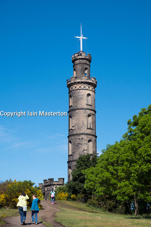The Nelson Monument on Calton Hill in Edinburgh, Scotland, United Kingdom