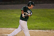 West Deptford's Dominic Bisirri fouls a ball off during the opening round of the Mid-Atlantic Senior League regional tournament held in West Deptford on Friday, August 5.