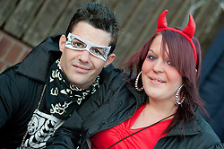 Guinness Northern Counties Housing Associations Godley Street  Scheme Hold a Halloween Street Party.Kirk Davies and Ellie Wood..30 October 2010 .Images © Paul David Drabble
