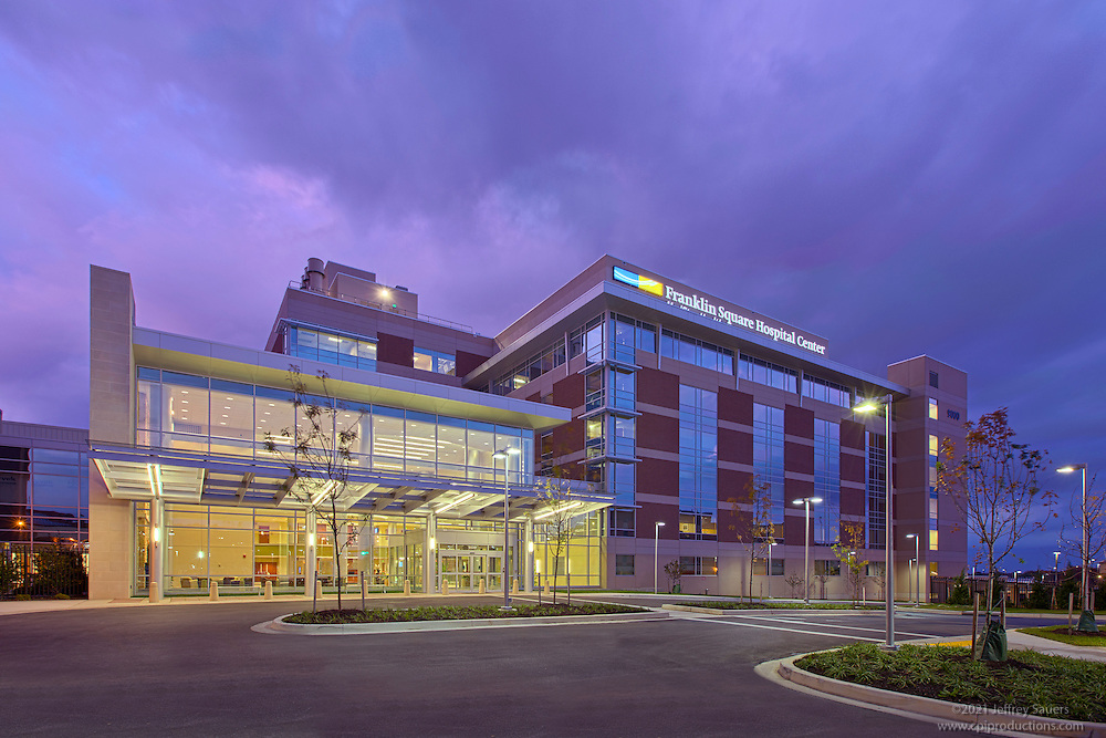 Architectural Exterior Image of Baltimore Hospital Franklin Square Hospital Center Patient Tower