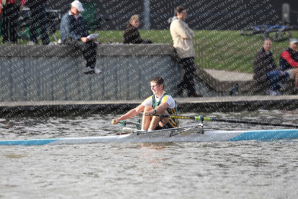 2012.09.29 Wallingford Long Distance Sculls 2012. Division 3. J18A 1x. Windsor Boys School Boat Club.