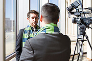 January 29, 2014: The OKC Energy FC holds an event to announce Michael Thomas is the first player signing in franchise history.  The Energy FC will begin play with the 2014 USL Pro season.