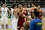 DESCRIZIONE : Avellino Lega A 2009-10 Air Avellino Lottomatica Roma<br /> GIOCATORE : Cenk Akyol Luigi Datome<br /> SQUADRA : Air Avellino Lottomatica Roma<br /> EVENTO : Campionato Lega A 2009-2010 <br /> GARA : Air Avellino Lottomatica Roma<br /> DATA : 14/02/2010<br /> CATEGORIA : fair play<br /> SPORT : Pallacanestro <br /> AUTORE : Agenzia Ciamillo-Castoria/A.De Lise<br /> Galleria : Lega Basket A 2009-2010 <br /> Fotonotizia : Avellino Campionato Italiano Lega A 2009-2010 Air Avellino Lottomatica Roma<br /> Predefinita :