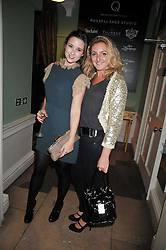 Left to right, KELLY EASTWOOD and NATASHA CORRETT at the launch of Quintessentially Soho at the House of St Barnabas, 1 Greek Street, London on 29th September 2009.<br /> <br /> <br /> <br /> <br /> BYLINE MUST READ: donfeatures.com<br /> <br /> *THIS IMAGE IS STRICTLY FOR PAPER, MAGAZINE AND TV USE ONLY - NO WEB ALLOWED USAGE UNLESS PREVIOUSLY AGREED. PLEASE TELEPHONE 07092 235465 FOR THE UK OFFICE.*