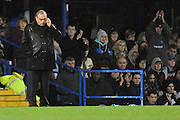 Portsmouth's new Manager Avram Grant looks dismayed as his side loses 1-4.  Portsmouth v Manchester United (1-4), Barclays Premier League Fratton Park, Portsmouth, 28th November 2009.
