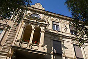 Last-century architecture of a large Slovenian house, on 23rd June 2018, in Celje, Slovenia.