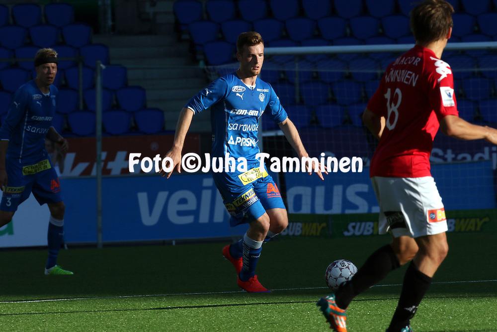 17.8.2015, Sonera Stadion, Helsinki.<br /> Veikkausliiga 2015.<br /> Helsingfors IFK - Rovaniemen Palloseura.<br /> Tomas Hradecky - RoPS