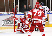 2019-10-16 | Ljungby, Sweden: Troja-Ljungby (36) Wictor Ragnewall during the game between IF Troja / Ljungby and Kallinge / Ronneby IF at Ljungby Arena ( Photo by: Fredrik Sten | Swe Press Photo )<br /> <br /> Keywords: Ljungby, Icehockey, HockeyEttan, Ljungby Arena, IF Troja / Ljungby, Kallinge / Ronneby IF, fstk191016, ATG HockeyEttan