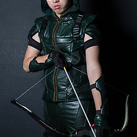 A cosplay participant dresses as Green Arrow of 'the Green Arrow' at the 19th Ani-Com and Games Fair 2017 at the Hong Kong Convention and Exhibition Centre on 28 July 2017. The annual fair showcases animation, comics, online games, electronic games and edition collectibles, and runs from 28 July to 1 August 2017 in Hong Kong, China. Photo by Yu Chun Christopher Wong / studioEAST