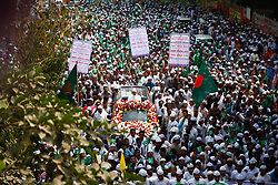 November 21, 2018 - Dhaka, Bangladesh - Bangladeshi Muslims participate in a rally to mark Eid-e-Miladunnabi, the birthday of the Prophet Mohammad in Dhaka, Bangladesh. Muslims across the world observe the 12th of Rabi-ul-Awwal, the birth anniversary of Prophet Mohammad, as Eid-e-Miladunnabi. The Prophet died on the same day as that of his birth at the age of 63. The day is a public holiday in Muslim-majority Bangladesh. (Credit Image: © Mehedi Hasan/NurPhoto via ZUMA Press)