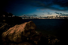 San Francisco Skyline - View at Night from Treasure Island - November 21, 2010