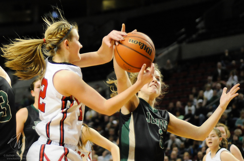 2011/03/12 -- OSAA Basketball: Clackamas vs. Jesuit -- Jesuit beats Clackamas 42-39 to win their first 6A girls basketball title Mar. 12 at the Rose Garden in Portland. (Photo by Matthew Ginn © 2011)