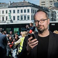 Brussels, Belgium 21April 2015<br /> Austrian MEP Michel Reimon.<br /> Photo: Ezequiel Scagnetti