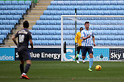Coventry City Defender Chris Stokes during the Sky Bet League 1 match between Coventry City and Bury at the Ricoh Arena, Coventry, England on 13 February 2016. Photo by Chris Wynne.